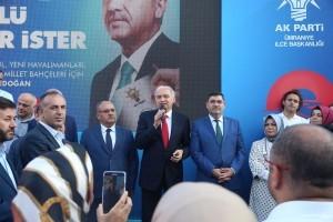 İstanbul Büyükşehir Belediye Başkanı Mevlüt Uysal ve Ümraniye Belediye Başkanı Hasan Can Ümraniye Alemdağ Caddesi'ndeki AK Parti Ümraniye Seçmen Kafe'yi Ziyaret Etti