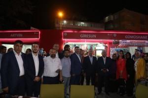 AK Parti Genel Başkan Yardımcısı Mustafa Ataş ve Başkan Hasan Can İle AK Parti Ümraniye İlçe Başkanı Ramazan Etkinlik Alanı'nda Giresunlular Dernek Çadırını Ziyaret Etti