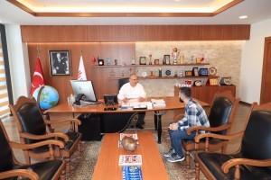 15 Temmuz Gazisi Servet Başaran'dan Başkan Hasan Can'a Ziyaret