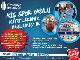 Ümraniye Belediyesi Kış Spor Okulları Kayıtları Başlıyor