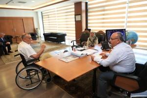 Yazar Muhsin Özalp'ten Başkan Hasan Can'a Ziyaret