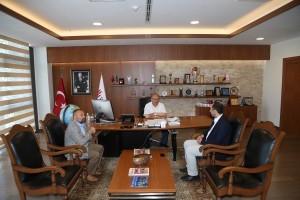 Ümraniye Kaymakamlığı Sosyal Yardımlaşma ve Dayanışma Vakfı Müdürü Abdullah Gök'ten Başkan Hasan Can'a Ziyaret