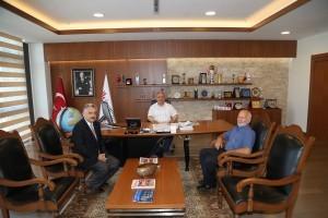 İmamı Ali Camii İmamı Oktay Yılmaz'dan Başkan Hasan Can'a Ziyaret