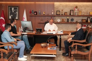 15 Temmuz Gazisi Ahmet Kahraman'dan Başkan Hasan Can'a Ziyaret
