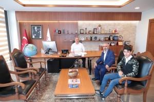 Kıbrıs Gazisi Ahmet Azlık'tan Başkan Hasan Can'a Ziyaret