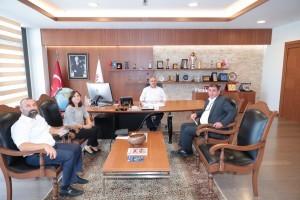 Ümraniye İlçe Sağlık Müdürü Dr. Cemal Karaağaç Başkan Hasan Can'ı Ziyaret Etti