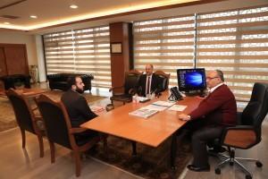 Ümmetin İhyası Derneği Başkanı Muhammed Adnan Tabba'dan Başkan Hasan Can'a Ziyaret