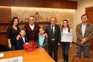 Teletaş İlkokulu Müdürü ve Esenkent Mahalle Başkanı'ndan Başkan Hasan Can'a Ziyaret