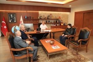 İrfan Okulları Genel Müdürü Ahmet Kerim Nalbant'tan Başkan Hasan Can'a Ziyaret