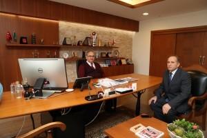 Ümraniye İşkur Eski Müdürü Yaşar Efiloğlu'ndan Başkan Hasan Can'a Ziyaret