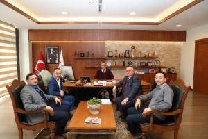 Cevherağa Camii İmam Hatiplerinden Başkan Hasan Can'a Ziyaret