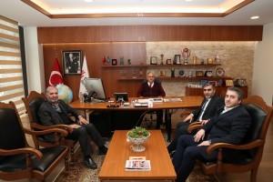 Belediye Meclis Üyelerinden Başkan Hasan Can'a Ziyaret