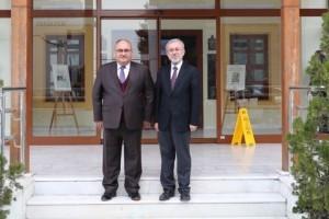 Başkan Hasan Can'dan Fatih Sultan Mehmet Vakıf Üniversitesi Güzel Sanatlar Fakültesi Dekanı Prof. Dr. Hüsrev Subaşı'ya Ziyaret