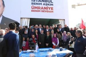 Enerji ve Tabii Kaynaklar Bakanı Fatih Dönmez ve Başkan Hasan Can Alemdağ Caddesi'ndeki AK Parti Ümraniye Seçmen Kafe'yi Ziyaret Etti