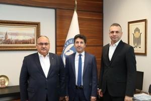 Başkan Hasan Can'dan Marmara Üniversitesi İlahiyat Fakültesi Dekanı Prof. Dr. Ali Köse'ye Ziyaret