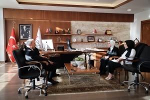 AK Parti İstanbul Milletvekili Dr. Ravza Kavakçı Kan'dan Başkan İsmet Yıldırım'a Ziyaret