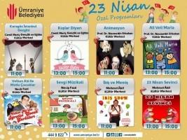 Ümraniye'de 23 Nisan Ulusal Egemenlik ve Çocuk Bayramı'nda Şenlik Var