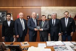 UCLG Belediyeler Birliği Başkanı, Lübnan Bakhoun Belediye Başkanı ve Dannieh Belediyeler Birliği Başkanı'ndan Başkan Yıldırım'a Ziyaret