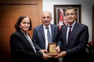 Biruni Üniversitesi Rektörü ve Rektör Yardımcısı Başkan İsmet Yıldırım'ı Ziyaret Etti