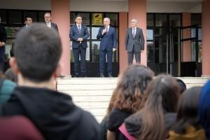 Başkan Yıldırım Prof. Dr. Nabi Avcı Anadolu Lisesi'nin Bayrak Törenine Katıldı