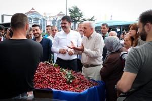 Çevre ve Şehircilik Bakanı Murat Kurum ve Başkan İsmet Yıldırım Ümraniye'de Esnaf Ziyaretinde Bulundu