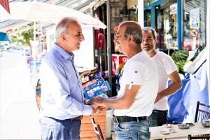 Başkan İsmet Yıldırım Küçüksu Caddesi Esnafını Ziyaret Etti