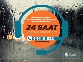 Ümraniye Belediyesi Şiddetli Yağmur İçin Teyakkuzda!