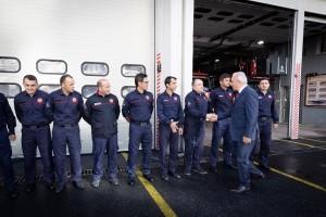 Ümraniye Belediye Başkanı İsmet Yıldırım'dan İtfaiyecilere Anlamlı Ziyaret