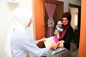 Ümraniye'de 'Hoş Geldin Bebek' Ziyaretleri Devam Ediyor