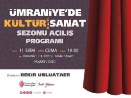 Kültür-Sanat Sezonu Yeni Dönem Açılışı Cuma Günü Yapılacak