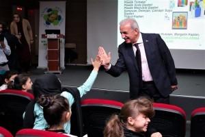 Başkan Yıldırım, Çocuklarla Sıfır Atık Semineri'ne Katıldı