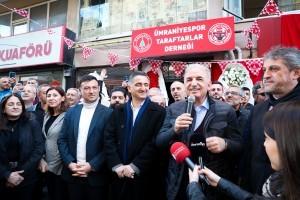 Başkan Yıldırım, Ümraniyespor Taraftarlar Derneği'nin Açılışını Yaptı