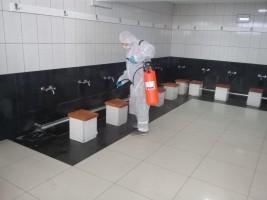Ümraniye'de Koronavirüsüne Karşı Dezenfekte Çalışmaları Sürüyor