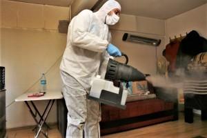 Ümraniye'de Yaşlılara Yönelik Koronavirüs Temizliği