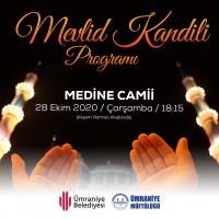 Medine Camii'nde Mevlid Kandili Programı