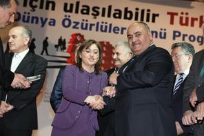 Bakan Şahin'den Başkan Hasan Can'a Ulaşılabilirlik Kalite Teşvik Ödülü