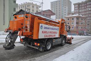 Ümraniye Belediyesi Kar Mesaisinde