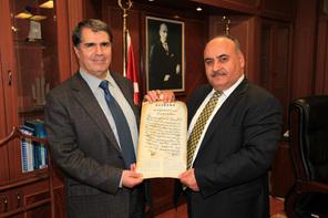 Makedonya SDA Partisi Genel Başkanı'ndan Başkan Hasan Can'a Ziyaret