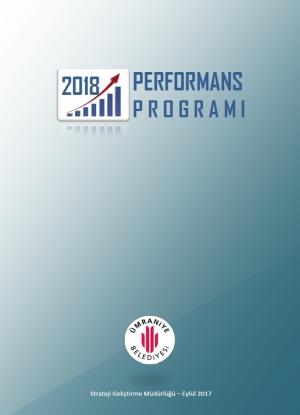 2018 Mali Yılı Performans Programı